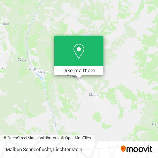 Schneeflucht map