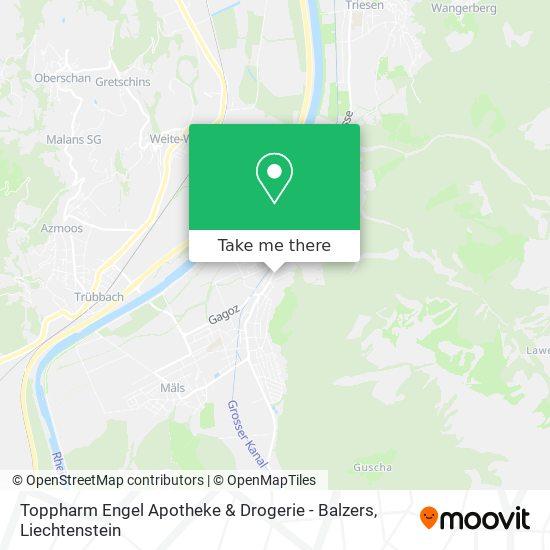 Toppharm Engel Apotheke & Drogerie - Balzers map