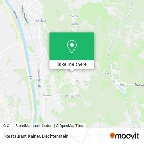 Restaurant Kainer map