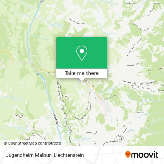 Jugendheim Malbun map