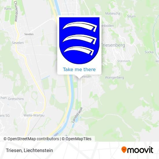 Triesen map