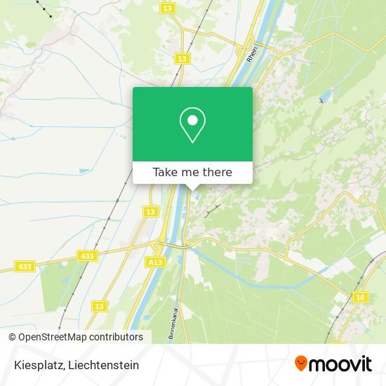 Kiesplatz map
