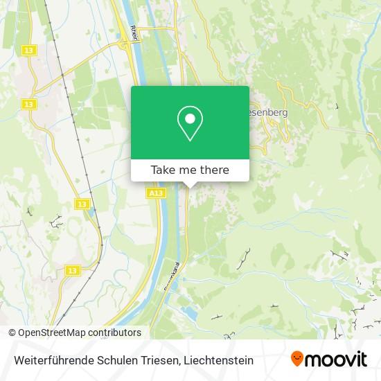 Weiterführende Schulen Triesen map