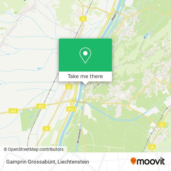 Gamprin Grossabünt map