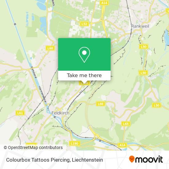 Colourbox Tattoos Piercing map