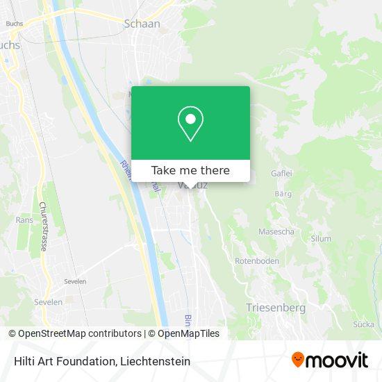 Hilti Art Foundation map