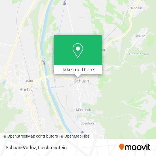 Schaan-Vaduz map