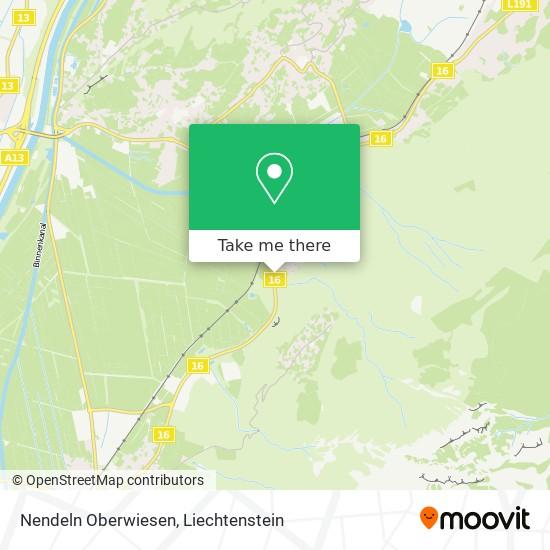 Nendeln Oberwiesen map