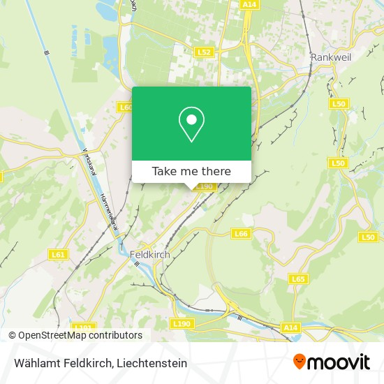Wählamt Feldkirch map