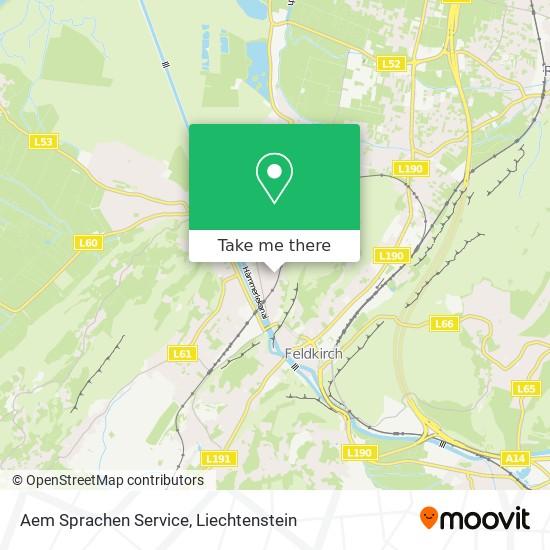 Aem Sprachen Service map