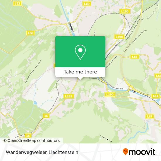 Wanderwegweiser map