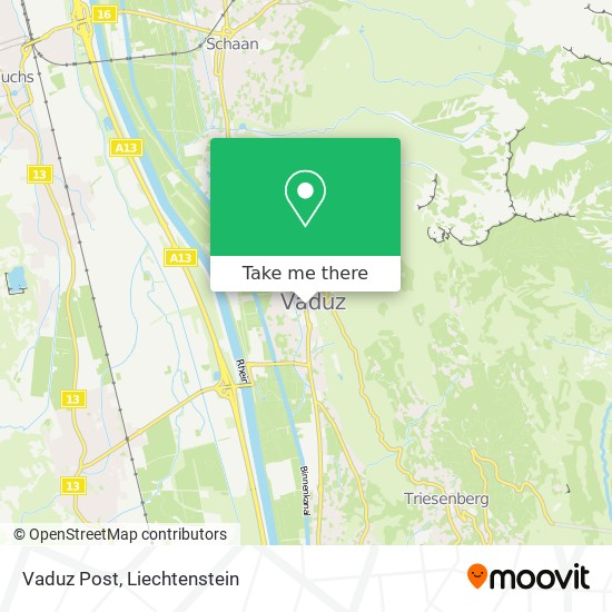 Vaduz Post map