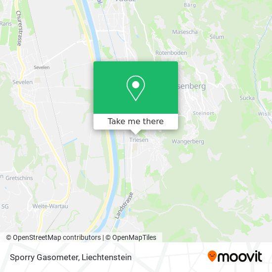 Sporry Gasometer map