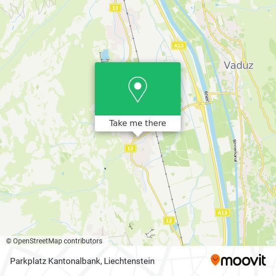 Parkplatz Kantonalbank map