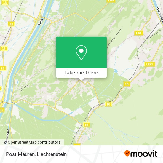 Post Mauren map