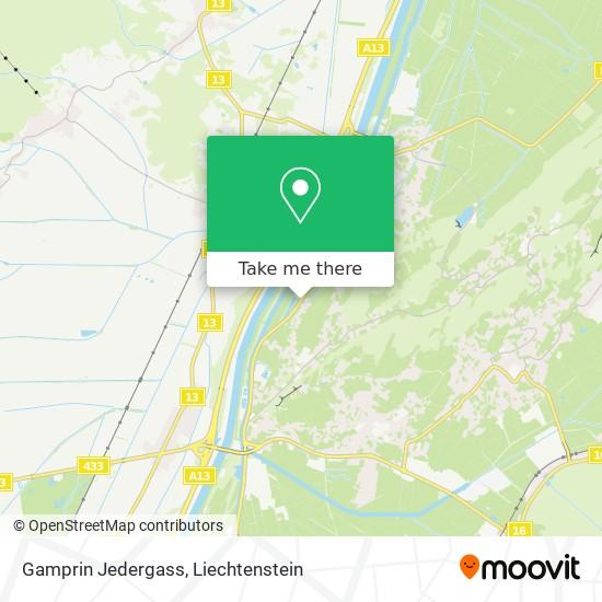 Gamprin Jedergass map