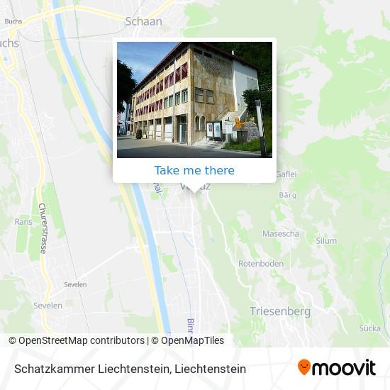 Schatzkammer Liechtenstein map