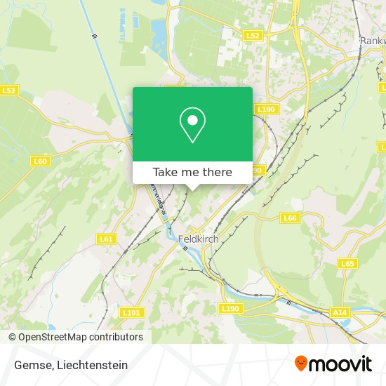 Gemse map