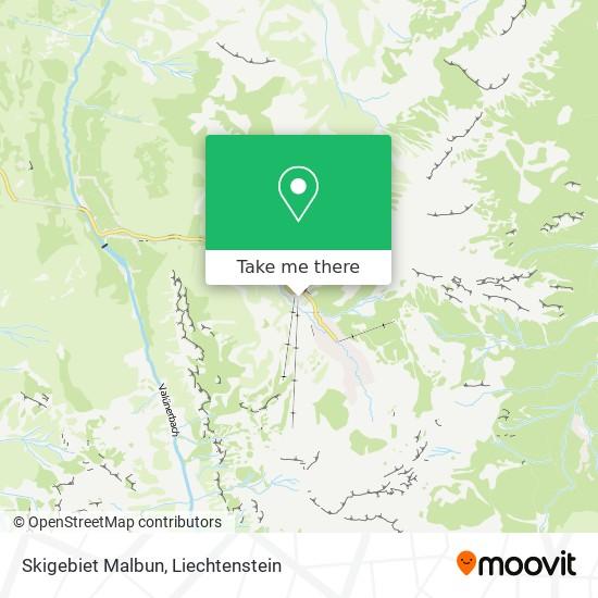 Skigebiet Malbun map