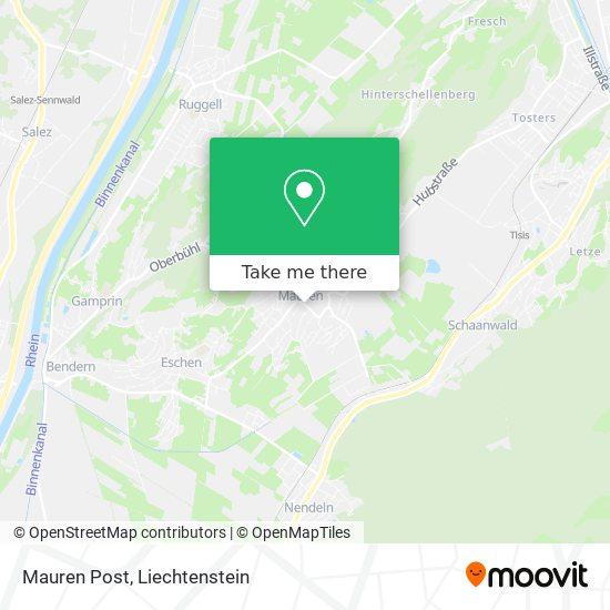 Mauren Post map