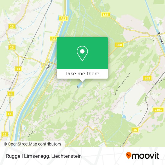 Ruggell Limsenegg map