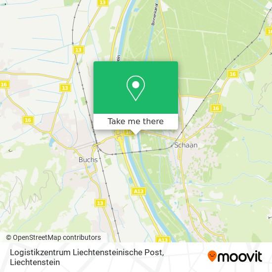 Logistikzentrum Liechtensteinische Post map