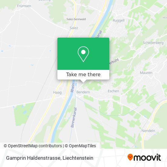 Bendern Haldenstrasse map