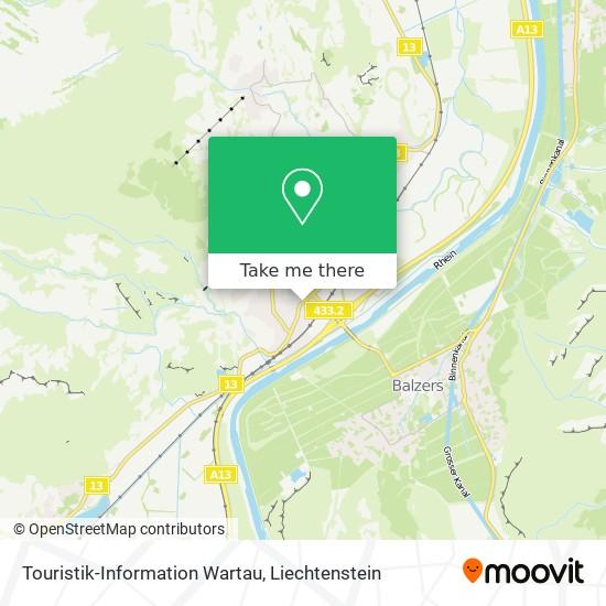 Touristik-Information Wartau map