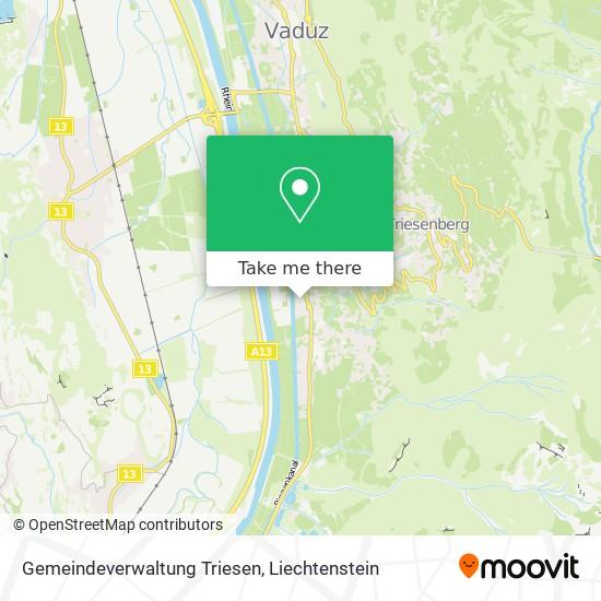 Gemeindeverwaltung Triesen map