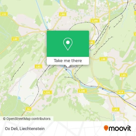 Ox Deli map