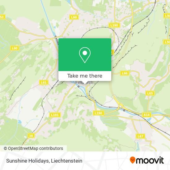 Sunshine Holidays map