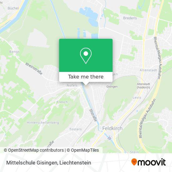 Mittelschule Gisingen map