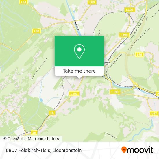 6807 Feldkirch-Tisis map