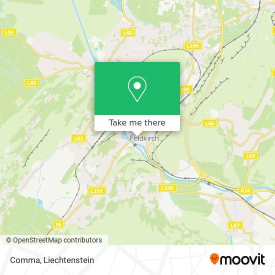 Comma map