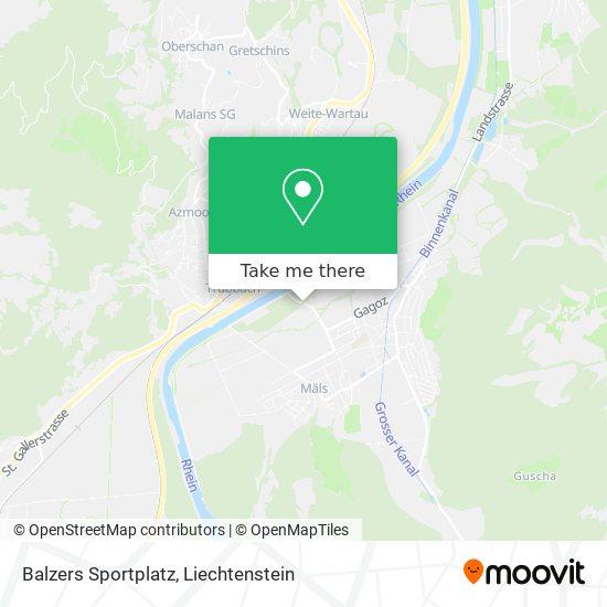 Balzers Sportplatz map