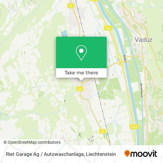 Riet Garage Ag / Autowaschanlage map