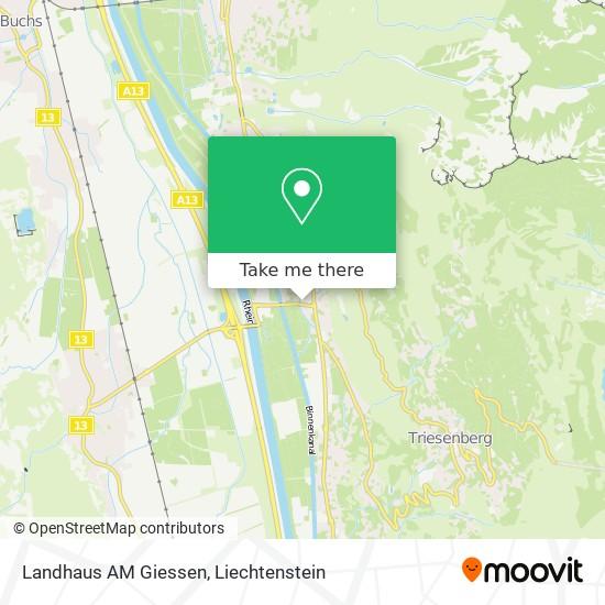 Landhaus AM Giessen map