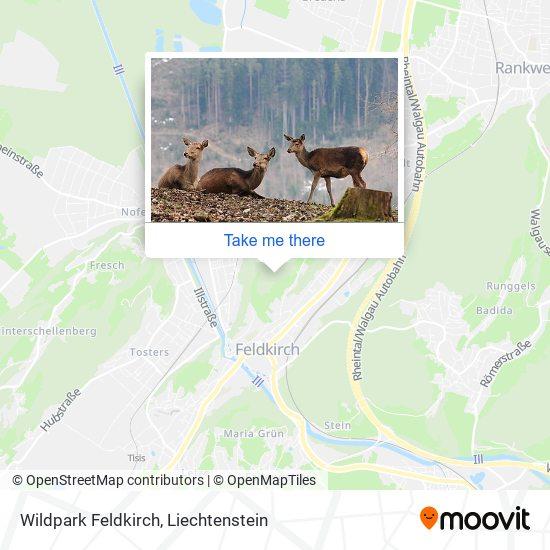 Wildpark Feldkirch map
