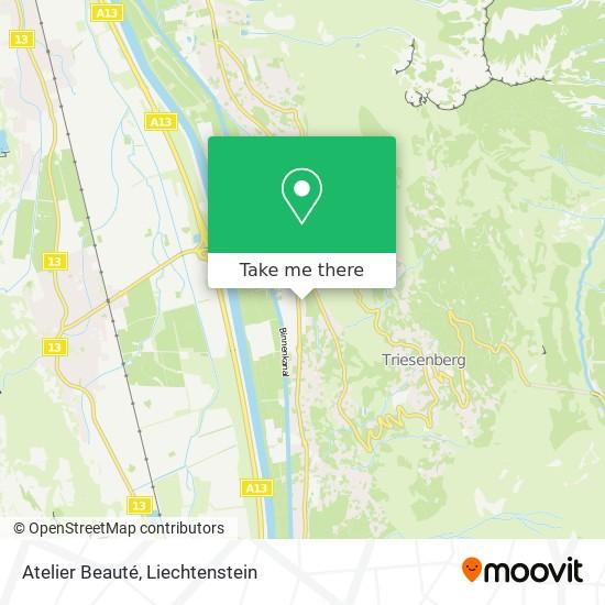 Atelier Beauté map