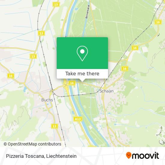Pizzeria Toscana map