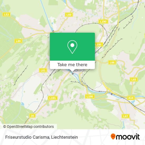 Friseurstudio Carisma map
