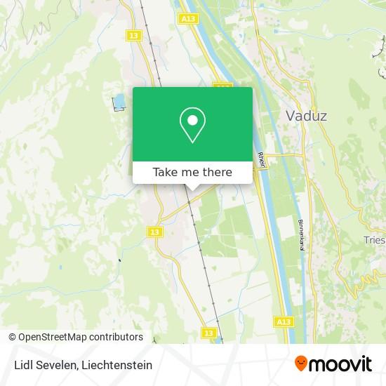 Lidl Sevelen map