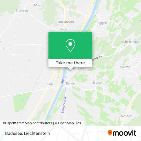 Badesee map