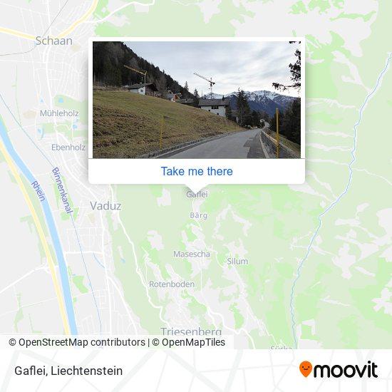 Gaflei map