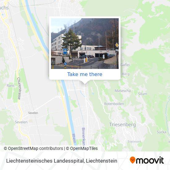 Liechtensteinisches Landesspital map