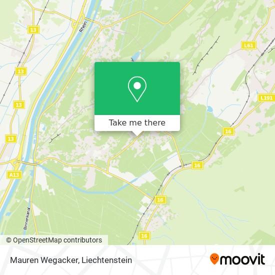 Mauren Wegacker map