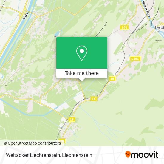 Weltacker Liechtenstein map
