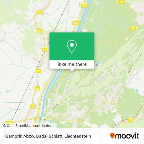 Gamprin Abzw. Bädal-Schlatt map