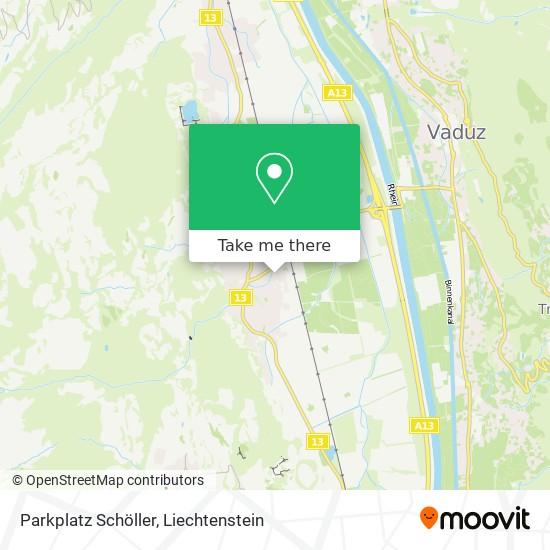 Parkplatz Schöller map