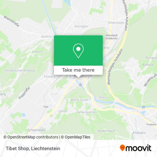 Tibet Shop map